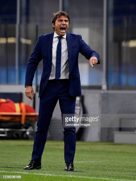 Antonio Conte of Inter Milan during the UEFA Champions League match between Internazionale v Borussia Monchengladbach at the San Siro on October 21...