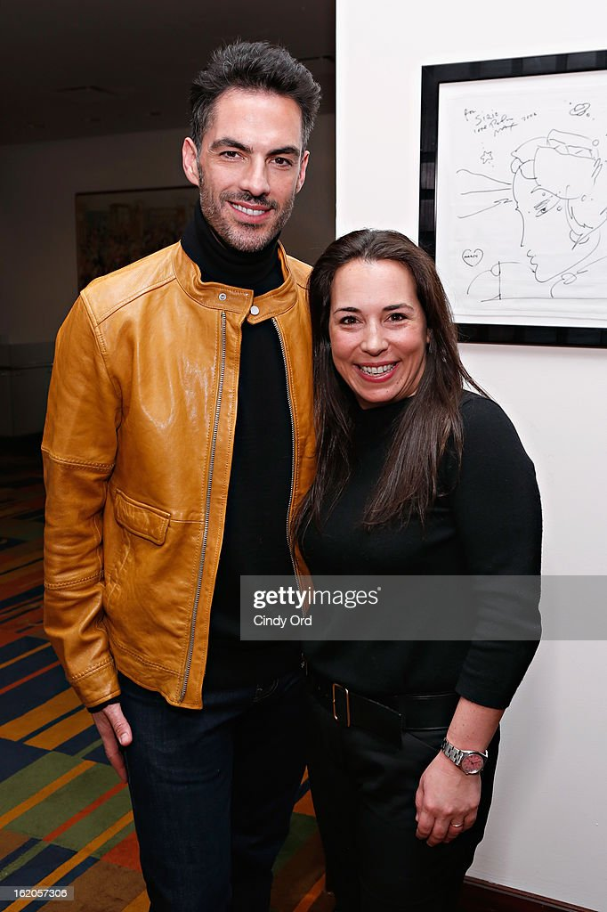 Antonio Corral-Calero and Samantha Yanks attend the Gotham Magazine & Moroccanoil Celebrate With Step Up Women's Network event on February 18, 2013 in New York City.
