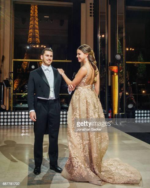 Antonio Cortez de Lobao and Ines de Braganca are photographed for Vanity Fair Magazine on November 28, 2015 at the Palais de Chaillot in Paris,...