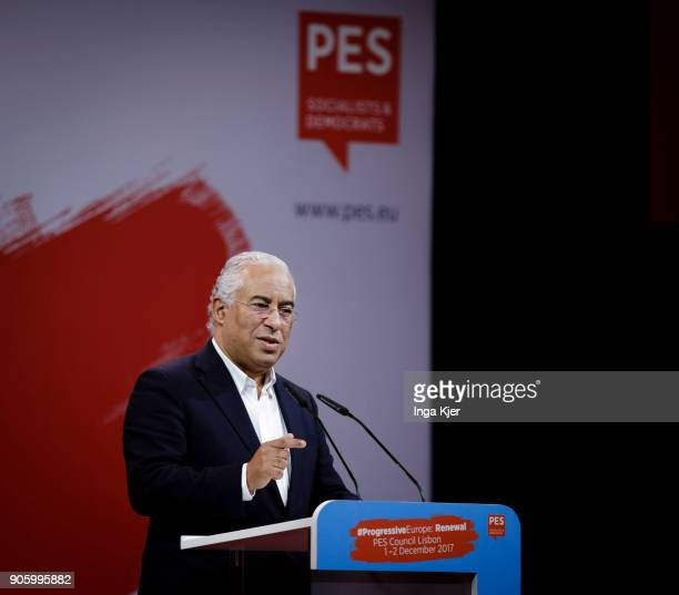Antonio Costa Prime Minister of Portugal in the course of the PES party congress on December 02 2017 in Lisbon Portugal