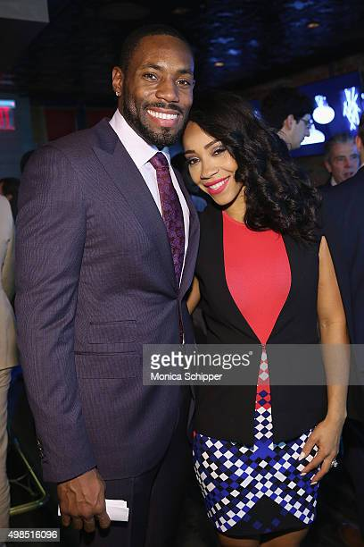 Antonio Cromartie and Terrica Cromartie attend GOTHAM Men's Event With Host Antonio Cromartie At Tender Restaurant In The Sanctuary Hotel at Tender...