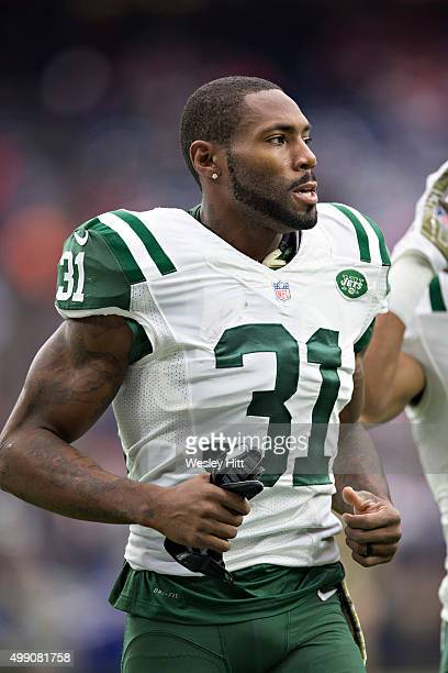Antonio Cromartie of the New York Jets warming up before a game against the Houston Texans at NRG Stadium on November 22 2015 in Houston Texas The...