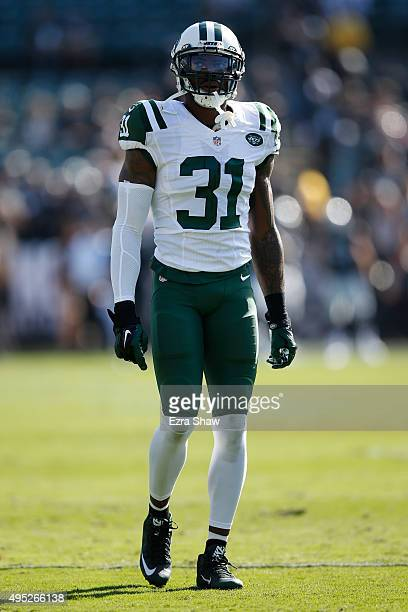 Antonio Cromartie of the New York Jets warms up prior to playing the Oakland Raiders in their NFL game at Oco Coliseum on November 1 2015 in Oakland...