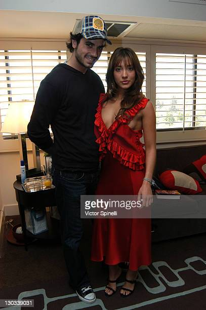 Antonio Cupo and Fernanda Romero during Alvin Valley Suite at the W Hotel Day 4 at W Hotel in Westwood California United States
