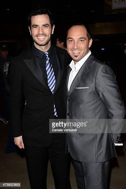 Antonio Cupo and producer Cristiano De Masi attend the 9th Annual LA Italia Film Fashion And Art's Festival Closing Night Awards Ceremony at TCL...