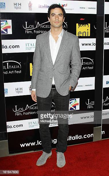 Antonio Cupo arrives at The 8th Annual Los Angeles Italia Film Fashion And Art Festival held at Chinese 6 Theatres on February 17 2013 in Hollywood...