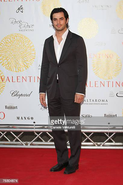 Antonio Cupo arrives at the Ara Pacis for Valentino's Exhibition opening on July 6 2007 in Rome Italy