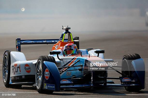 Antonio Da Costa of Portugal and Aguri Team during the Mexico City Formula E Championship 2016 at Autodromo Hermanos Rodriguez on March12, 2016 in...