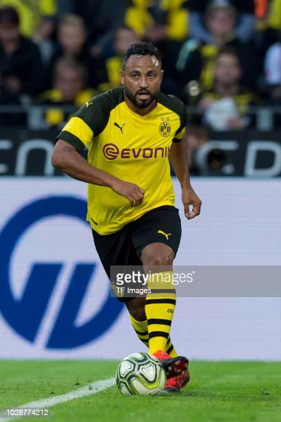Antonio da Silva of Borussia Dortmund Allstars controls the ball during the Roman Weidenfeller Farewell Match between BVB Allstars and Roman and...