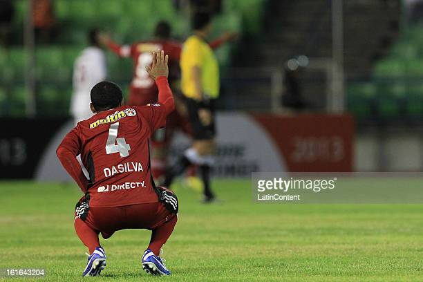 Antonio da Silva of Caracas FC during a match between Caracas FC and Fluminense as part of the 2013 Copa Bridgestone Libertadores at the Olympic...