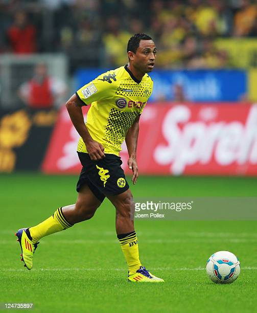 Antonio da Silva of Dortmund controls the ball during the Bundesliga match between Borussia Dortmund and Hertha BSC Berlin at Signal Iduna Park on...