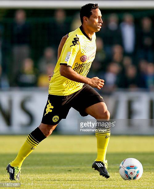 Antonio da Silva of Dortmund runs with the ball during preseason friendly match between Team Sauerland and Borussia Dortmund on July 4 2011 in...