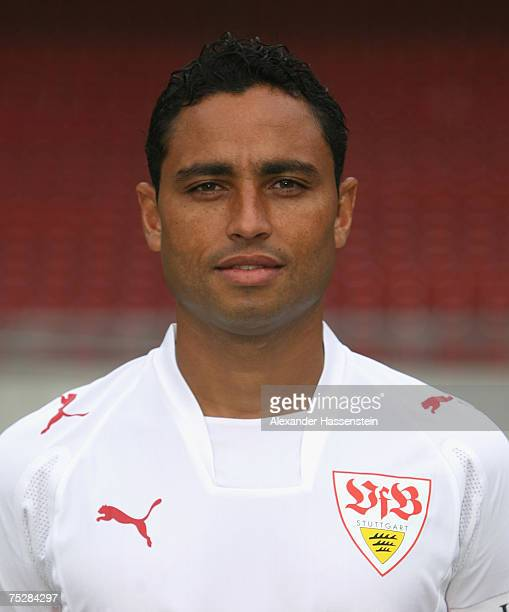 Antonio da Silva of Stuttgart poses during the Bundesliga 1st Team Presentation of VfB Stuttgart at the GottliebDaimler stadium on July 9 2007 in...