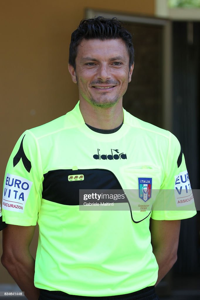 Antonio Damato with the new uniform for the 2017-2018 season at Coverciano on August 18, 2017 in Florence, Italy.
