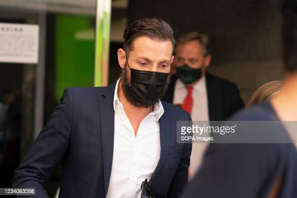 Antonio David Flores enters the court, for the trial against the Tv Mediaset chain for his dismissal in Madrid.