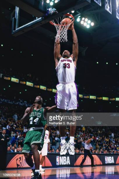 Antonio Davis dunks the ball against the Boston Celtics on November 2 1999 at the Air Canada Centre in Toronto Canada NOTE TO USER User expressly...