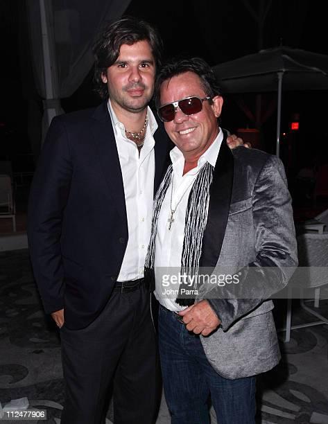 Antonio de la Rua and JR Ridinger attend Haute Living Magazine's Haute 100 Dinner at Mondrian South Beach on April 16 2009 in Miami