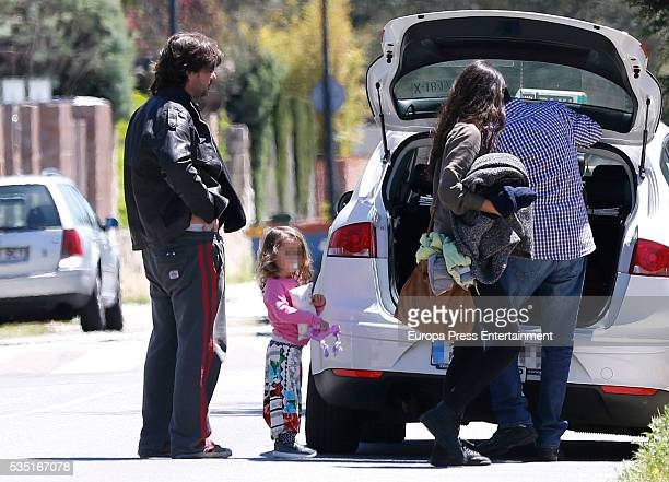 Part of this image has been pixellated to obscure the identity of the child Antonio de la Rua Daniela Ramos and their daughter Zulu de la Rua are...