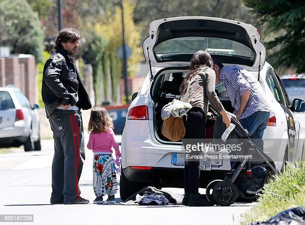 Antonio de la Rua Daniela Ramos and their daughter Zulu de la Rua are seen on May 1 2016 in Madrid Spain