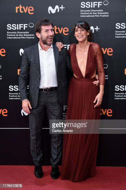 Antonio de la Torre and Belen Cuesta attend 'La Trinchera Infinita ' premiere during 67th San Sebastian Film Festival at Kursaal San Sebastian on...