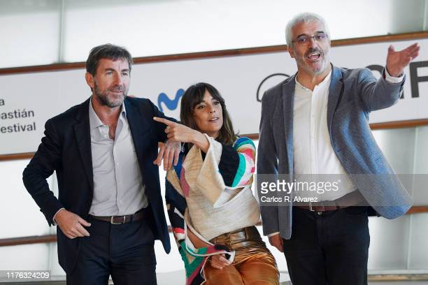 Antonio de la Torre Belen Cuesta and Vicente Vergara attend 'La Trinchera Infinita ' photocall during 67th San Sebastian Film Festival on September...
