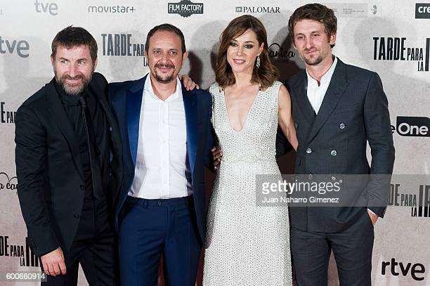 Antonio de la Torre Luis Callejo Ruth Diaz and Raul Arevalo attend Tarde Para La Ira premiere at Capitol Cinema on September 8 2016 in Madrid Spain