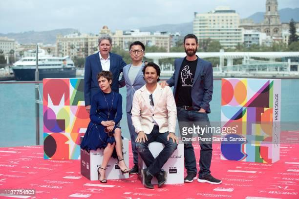 Antonio Dechent Maria Leon Ryo Matsumoto director Alvaro Diaz Lorenzo and Dani Rovira attend 'Los Japon' photocall during the 22nd Malaga Film...