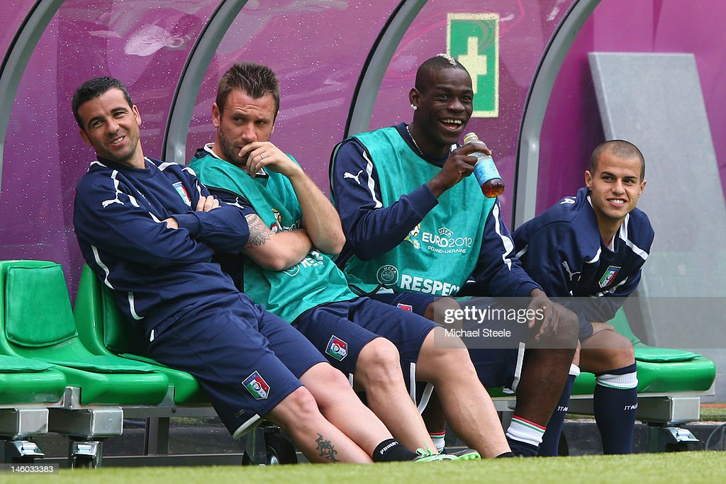 Italy Training and Press Conference - Group C: UEFA EURO 2012