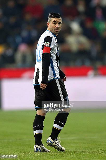 Antonio Di Natale of Udinese Calcio looks on during the Serie A match betweeen Udinese Calcio and FC Internazionale Milano at Stadio Friuli on...