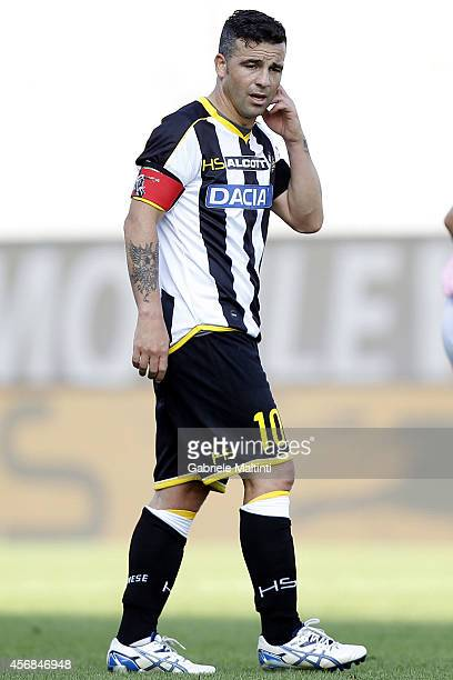 Antonio Di Natale of Udinese Calcio reacts during the Serie A match between Udinese Calcio and AC Cesena at Stadio Friuli on October 5 2014 in Udine...