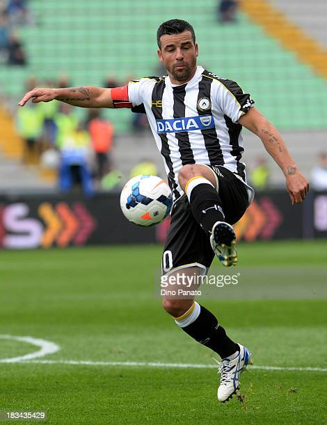 Antonio Di Natale of Udinese in action during the Serie A match between Udinese Calcio and Cagliari Calcio at Stadio Friuli on October 6 2013 in...