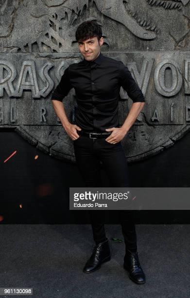 Antonio Diaz AKA El Mago Pop attend the 'Jurassic World Fallen Kingdom' premiere at Wizink Center on May 21 2018 in Madrid Spain