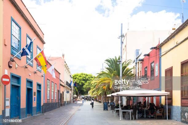"""antonio domínguez alfonso"" street, knowed as ""la noria"" street, in santa cruz de tenerife city, canary islands - as stock pictures, royalty-free photos & images"
