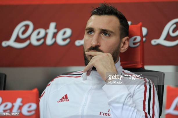 Antonio Donnarumma of Milan goalkeeper in the bench before the match valid for Italian Football Championships Serie A 20172018 between FC...