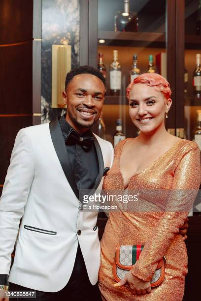 Antonio Edwards and Marissa Sample attend The One And Only, Dick Gregory, Album Release Event on September 16, 2021 in Burbank, California.