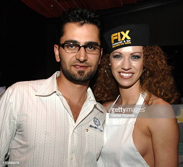 Antonio Esfandiari and Amanda Spratling during FIX Restaurant 2nd Year Anniversary Party at FIX Restaurant at The Bellagio Hotel and Casino Resort in...