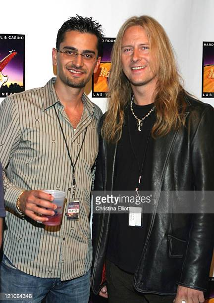 Antonio Esfandiari and Jerry Cantrell during Celebrity ProAm Poker Tournament at the Hard Rock Hotel and Casino at Hard Rock Hotel and Casino in Las...