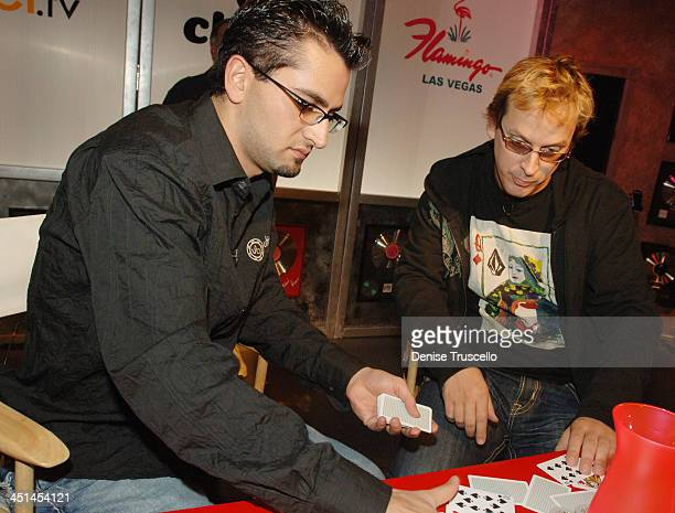 Antonio Esfandiari and Phil Laak during Vh1 Celebrity Poker Tournament at The Flamingo Hotel and Casino Resort in Las Vegas Nevada