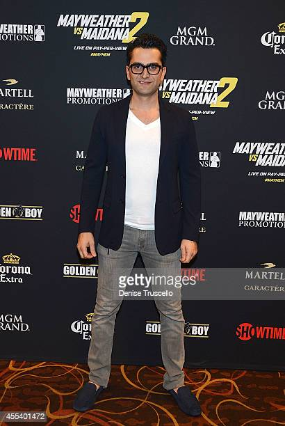 Antonio Esfandiari arrives at Showtime's VIP PreFight party for 'MAYHEM MAYWEATHER VS MAIDANA 2' at MGM Grand Garden Arena on September 13 2014 in...