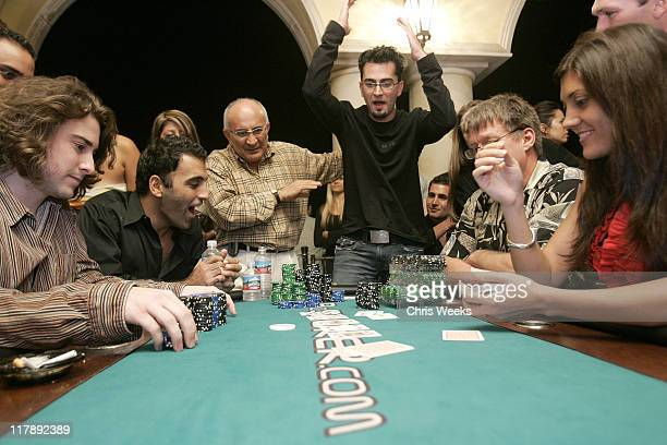 Antonio Esfandiari during 2005 BosPokercom Celebrity Poker Tournament Inside at Private Residence in Beverly Hills California United States