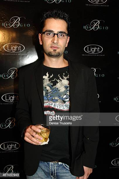Antonio Esfandiari during LIGHT Nightclub Four Year Anniversary VIP Red Carpet Reception at Caramel Lounge at The Bellagio Hotel and Casino Resort at...