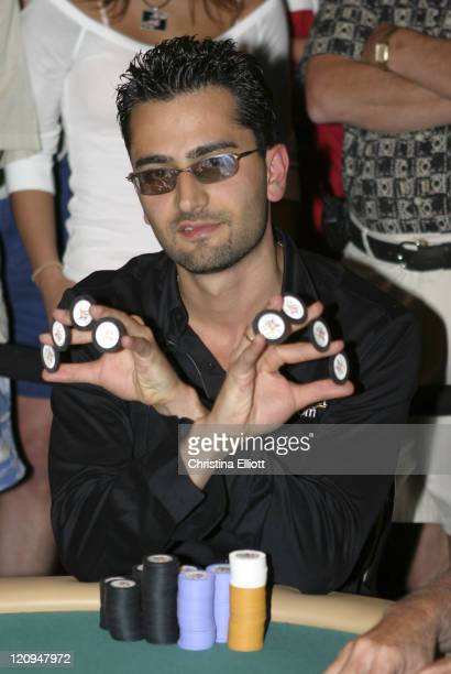Antonio Esfandiari during The Mirage Poker Showdown at The Mirage Hotel in Las Vegas Nevada July 30 2004