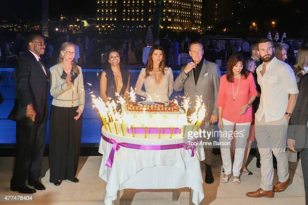 Antonio Fargas Lindsay Wagner Katerina Graham Jacqueline MacInnes Wood Lee Majors Stepfanie Kramer and Clive Standen attend the 55th Monte Carlo...