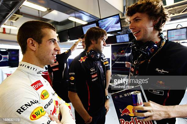 Antonio Felix da Costa of Portugal and testing for Red Bull Racing during the F1 Young Driver Test at Yas Marina Circuit on November 6 2012 in Abu...