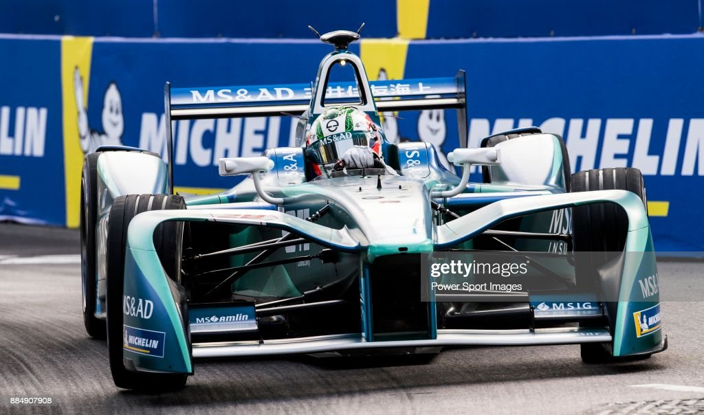 Antonio Felix da Costa of Portugal from MS & AD Andretti Formula E competes during the FIA Formula E Hong Kong E-Prix Round 2 at the Central Harbourfront Circuit on 03 December 2017 in Hong Kong, Hong Kong.