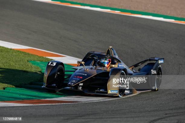 Antonio Felix , DS Techeetah, DS E-Tense FE20, action during the ABB Formula E Championship official pre-season test at Circuit Ricardo Tormo in...