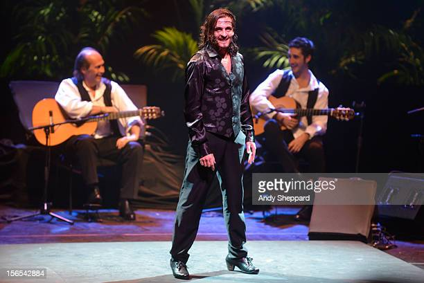 Antonio Fernandez Montoya aka Farruco and El Farro performs on stage with Flamenco guitarist Paco De Lucia at Royal Festival Hall during the London...