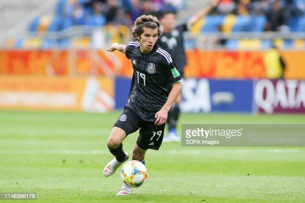 Antonio Figueroa from Mexico seen in action during the FIFA U-20 World Cup match between Mexico and Japan in Gdynia. .