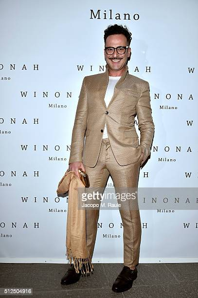 Antonio Frana attends Winonah VIP Cocktail photocall during Milan Fashion Week Fall/Winter 2016/17 on February 26, 2016 in Milan, Italy.
