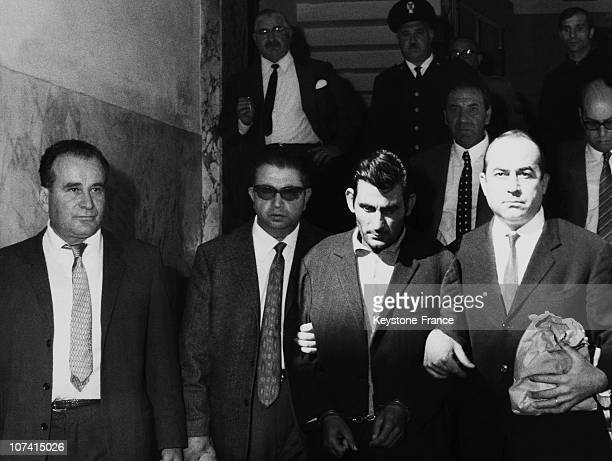 Antonio Furfari Arrest At Reggio Calabria In Italy On October 1969